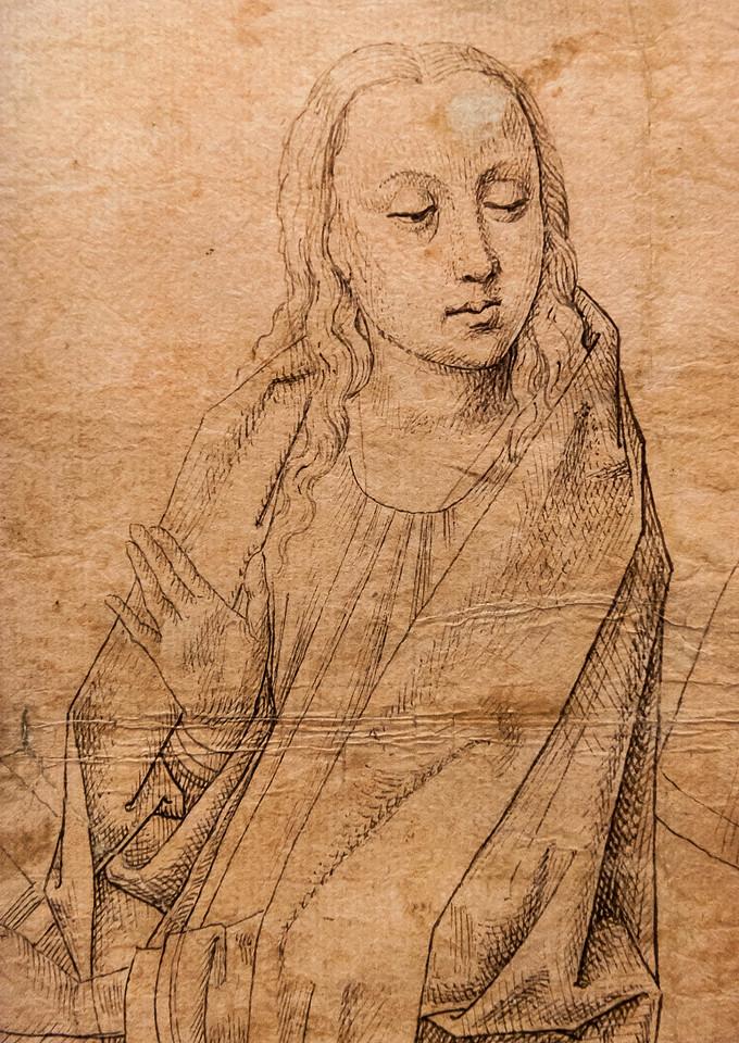 Südniederländisch: Verkündigung, Detail [Um 1480-1500, Kupferstichkabinett Berlin]