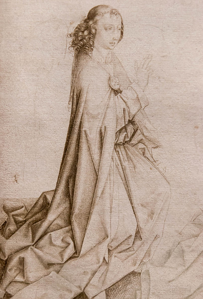 Dirk Bouts (Werkstatt): Verkündigung, Detail [Um 1470-90, Kupferstichkabinett Berlin]