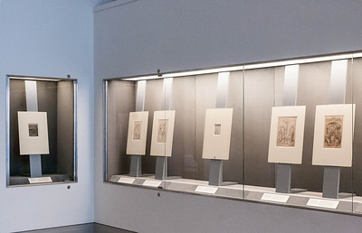 """Blick in die Ausstellung """"Niederländische Zeichnungen des 15. Jahrhunderts"""" 2009, Kupferstichkabinett Berlin"""