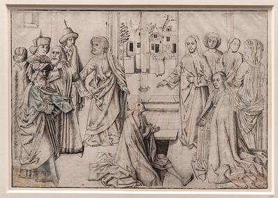 Meister der Tiburtinischen Sibylle (Nachfolger): Auferweckung des Lazarus [um 1480, Kupferstichkabinett Berlin]