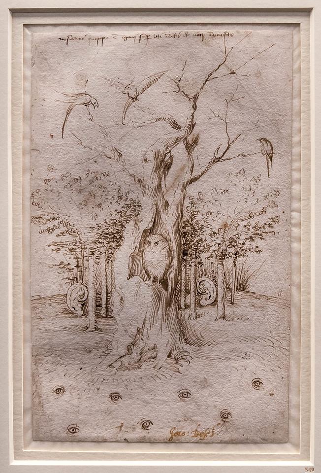 Hieronymus Bosch: Das Feld hat Augen, der Wald hat Ohren [Um 1500, Kupferstichkabinett Berlin]
