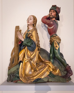 Michel Erhart: Enthauptung der hl. Katharina (um 1480) [Bode-Museum Berlin]