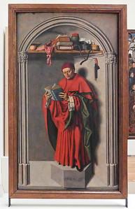 Barthelemy d'Eyck: Rechter Flügel eines Triptychons ais Aix - Vorderseite Jeremias(Brüssel, Museum der Schönen Künste)