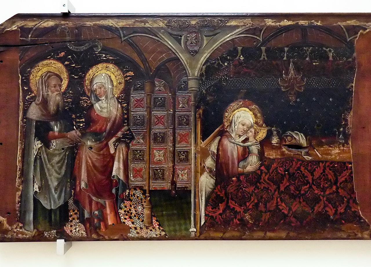 Südniederländische Schule: Tafeln aus dem Leben von Maria  (Brüssel, Museum der Schönen Künste)