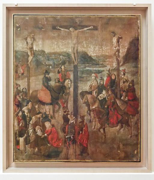 Dieric Bouts: Kreuzigung(Brüssel, Museum der Schönen Künste)