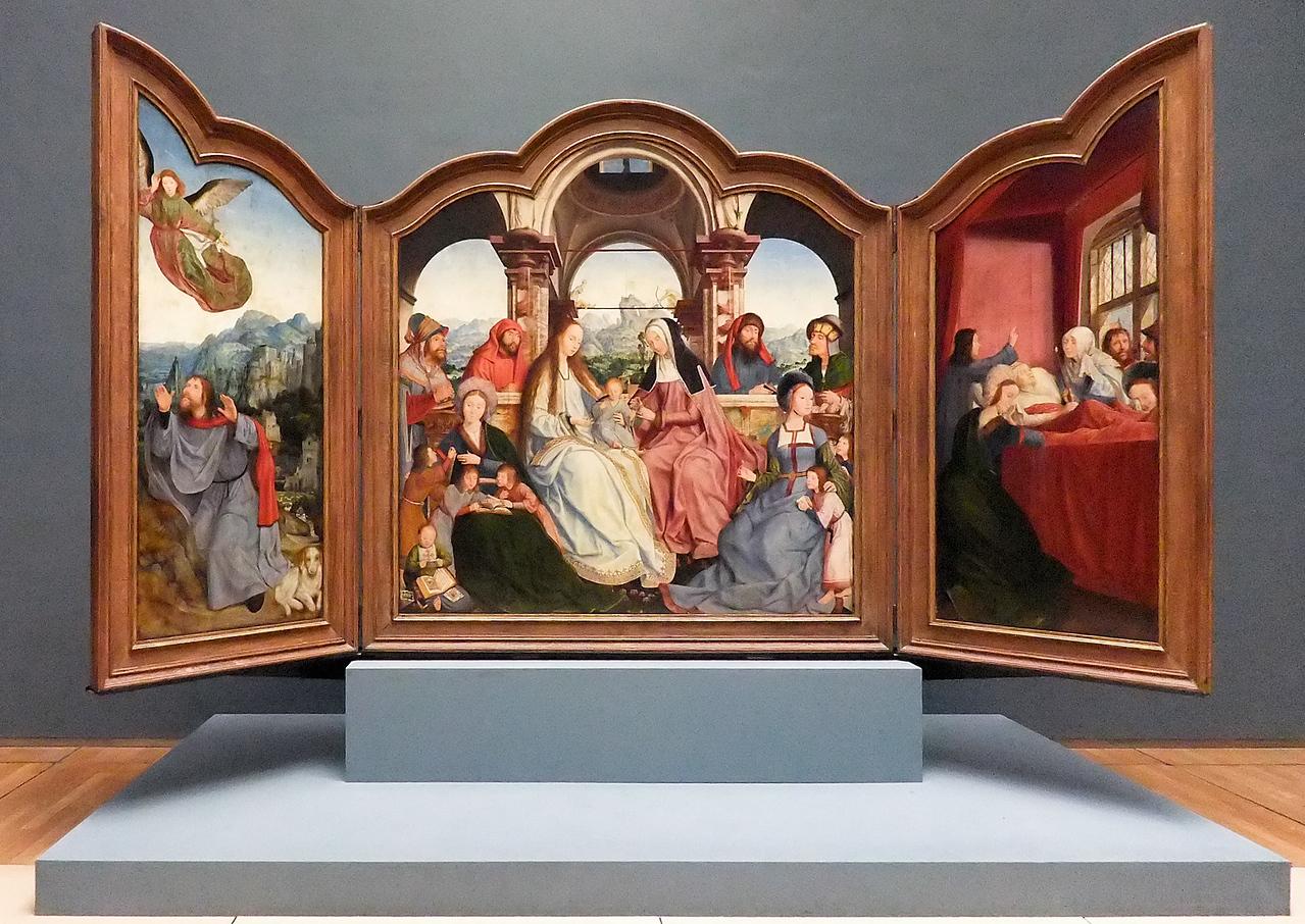 Quinten Massys: Triptychon der Bruderschaft der Heiligen Anna zu Löwen (Brüssel, Museum der Schönen Künste)