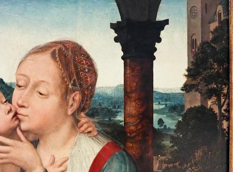 Quinten Massys: Thronende Madonna (Brüssel, Museum der Schönen Künste)