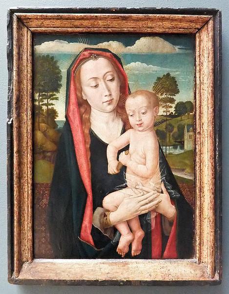 Hugo van der Goes (?): Maria mit Kind (Brüssel, Museum der Schönen Künste)