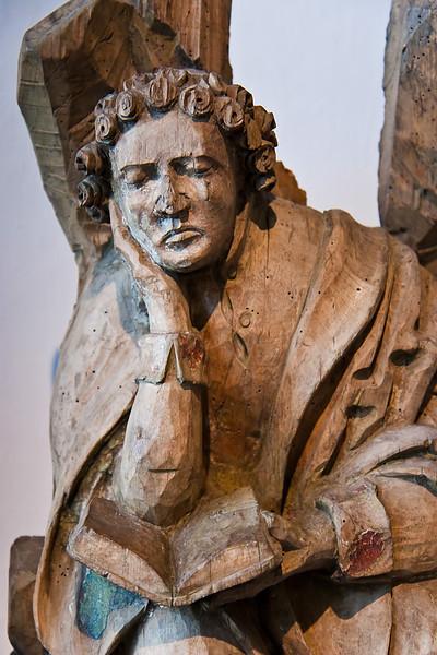 Johannes von einer Ölberggruppe; um 1500; Laubholz, Reste von Fassung; aus Weistropp bei Dresden; Schlossbergmuseum Chemnitz