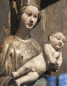 Maria und Kind; um 1400; Lindenholz, Fassung orig.; aus Topfseidersdorf bei Rochlitz; Schlossbergmuseum Chemnitz