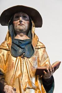 Hieronymus; um 1510; Laubholz; Fassung orig.; aus Nauberg bei Grimma; Schlossbergmuseum Chemnitz