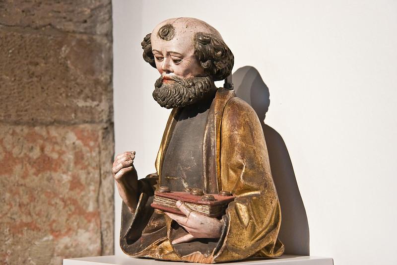 Hl. Petrus; um 1500; polychr. Fassung; Herkunft unbekannt; Schlossbergmuseum Chemnitz