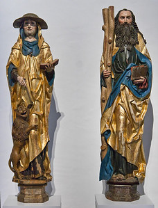 Hieronymus und Andreas; um 1510; Laubholz; Fassung orig.; aus Nauberg bei Grimma; Schlossbergmuseum Chemnitz