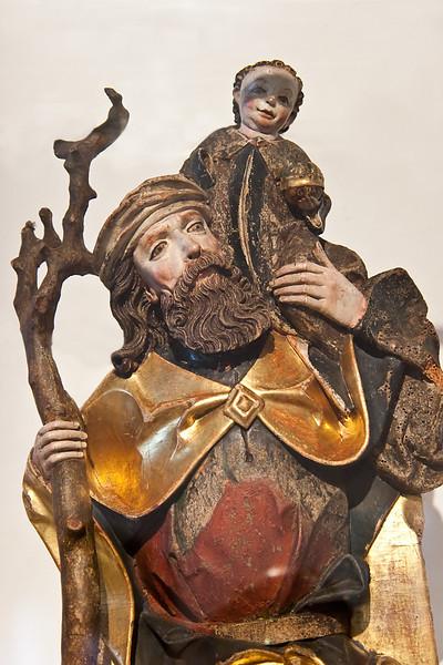 Peter Breuer: hlg. Christophorus; 1506; Fassung orig.; vom Annenaltar aus Gersdorf bei Lugau; Schlossbergmuseum Chemnitz