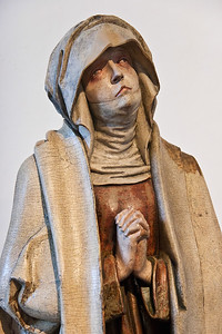 Meister H.W.: Schmerzensmutter; um 1501-1503; Laubholz; Fassung orig.; wohl aus Jakobikirche in Chemnitz; Schlossbergmuseum Chemnitz
