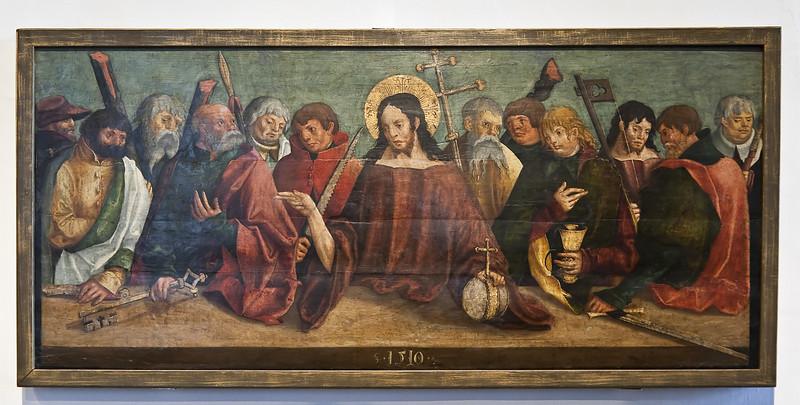 Meister des Ehrenfriedersdorfer Hochaltars: Christus und Apostel; 1510; aus Jakobikirche in Chemnitz-Einsiedel; Schlossbergmuseum Chemnitz
