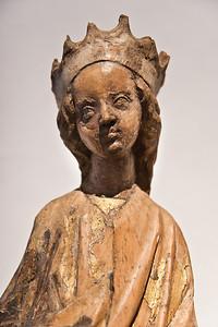 Katharina; Anfang 15. Jhdt.; Laubholz, Reste von Fassung; aus Gersdorf bei Döbeln; Schlossbergmuseum Chemnitz