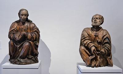 Petrus und Jakobus der Ältere aus Ölberggruppe; um 1515; aus Thurm bei Glauchau; Schlossbergmuseum Chemnitz