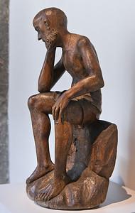Christus in der Rast: Anfang 16. Jhdt.; Laubholz, ehem. gefasst; aus der Nikolaikirche in Grimma; Schlossbergmuseum Chemnitz