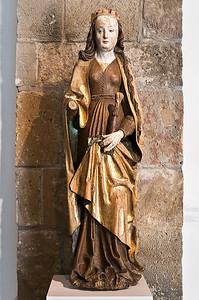 Hlg. Katharina; Anfang 16. Jhdt.; Linde, Fassung orig.; aus Etzdorf bei Döbeln; Schlossbergmuseum Chemnitz