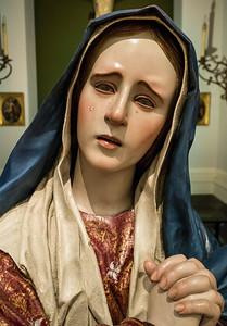 Pedro da Mena: Trauernde Maria, Detail [1628-1688, Academia de Bellas Artes, Madrid]