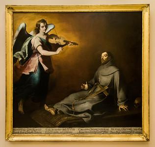 Murillo: Franz von Assisi in Extase [um 1646, Academia de Bellas Artes, Madrid]
