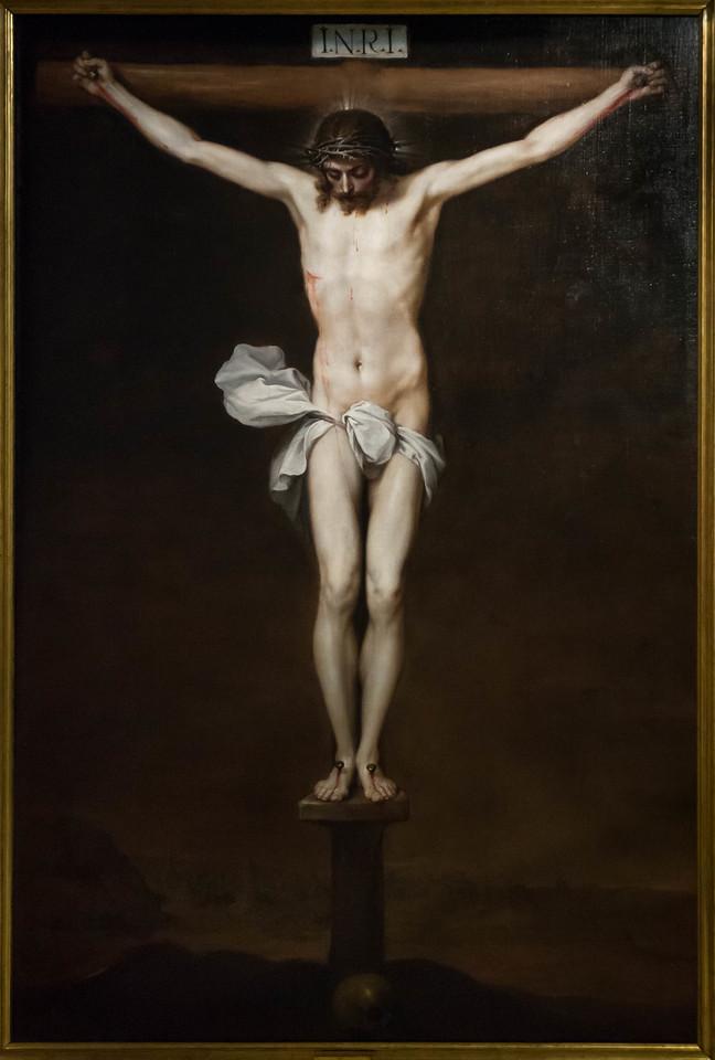 Alonso Cano: Christus am Kreuz [um 1640,  Academia de Bellas Artes, Madrid]