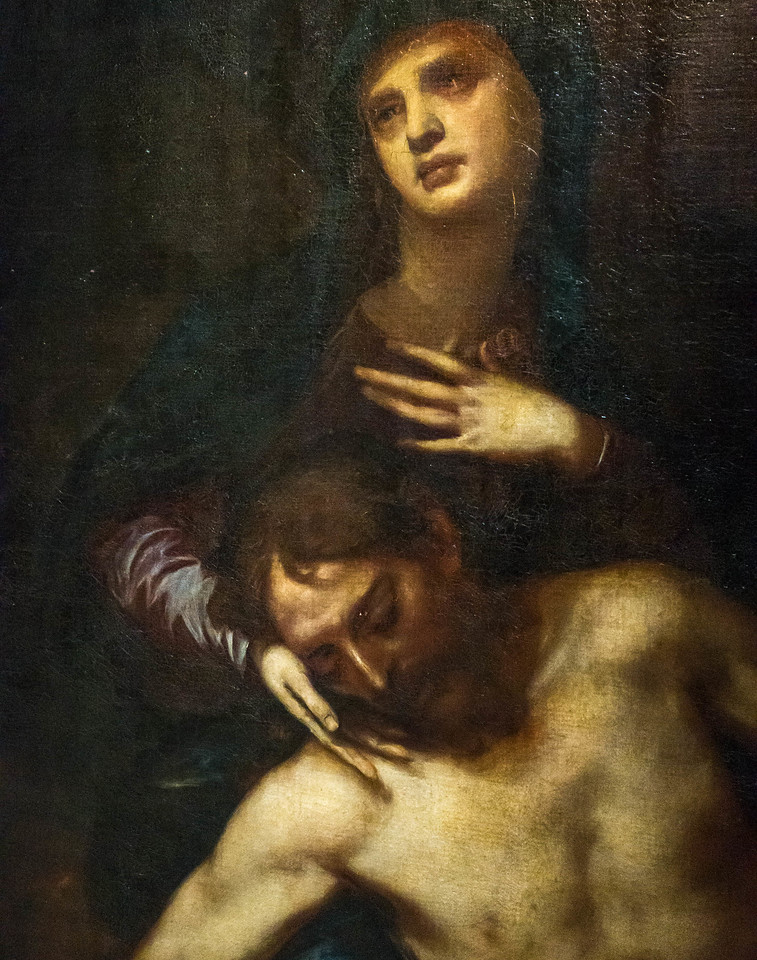 Alonso Cano: Pieta, Detail [1601-1667, Academia de Bellas Artes, Madrid]