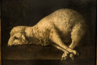 Francisco de Zurbaran: Agnus Dei [1639, Academia de Bellas Artes, Madrid]