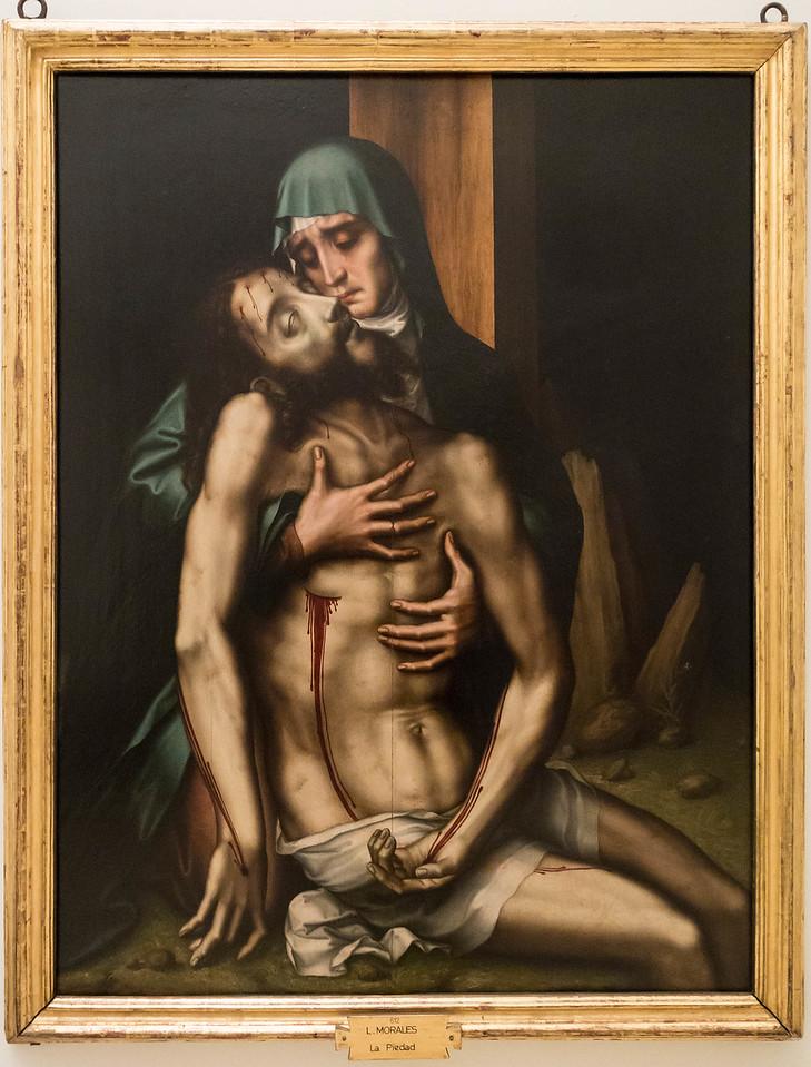 Luis de Morales: Pieta [um 1570, Academia de Bellas Artes, Madrid]