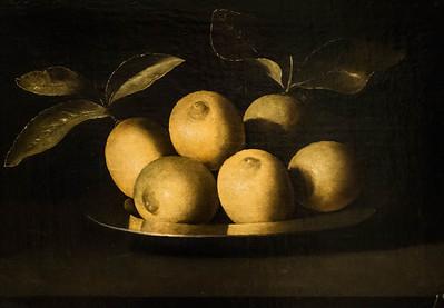 Juan de Zurbaran: Zitronenschale [um 1640, Academia de Bellas Artes, Madrid]
