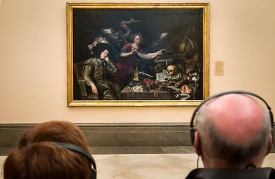 Antonio de Pereda: Traum eines Ritters [um 1650, Academia de Bellas Artes, Madrid]
