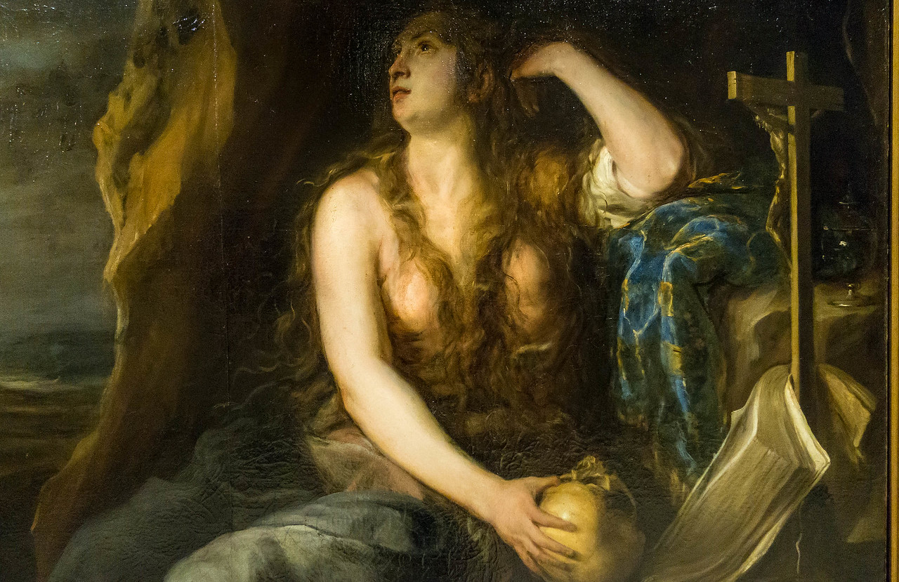 Juan Carreno de Miranda: Büßende Magdalena, Detail [1654, Academia de Bellas Artes, Madrid]