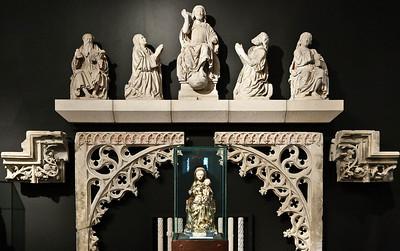 Münster, Domkammer, ehem. Domlettner, Paulus, Maria, Christus, Joh. d.T., Joh. d.E. (Johann Brabander, 1547)