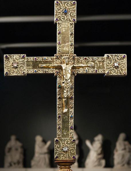 Münster, Domkammer, Vortragekreuz  des Kapitels (2. H. 13. Jh.)