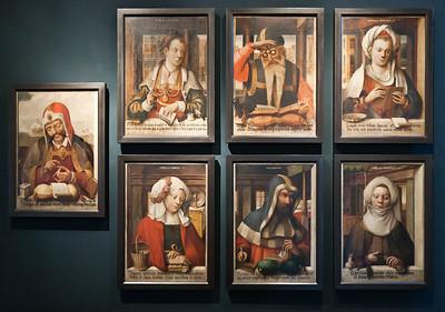 Münster, Domkammer, Sibyllen und Propheten aus Chorumgang des Doms(Hermann tom Ring, um 1560)