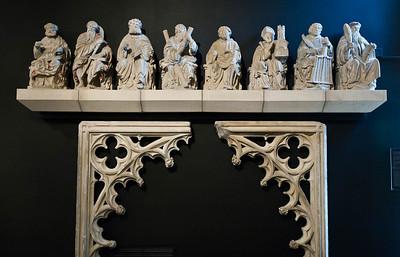 Münster, Domkammer, ehem. Domlettner: Petrus, Jakobus d.Ä., Bartholomäus, Andreas, Stephanus, Ludgerus, Laurentius, Antonius Erem.