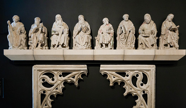 Münster, Domkammer, ehem. Domlettner: Jakobus d.J., Philippus, Thomas, Judas Thaddäus, Matthias, Matthäus, Simon, Sebastian