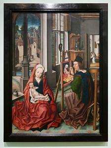 Münster, WLM, Derick Baegert: Lukas malt die Madonna (um 1470 o. 1490)