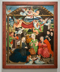 Münster, WLM, Derick Baegert: Anbetung mit Stiftern (um 1480)