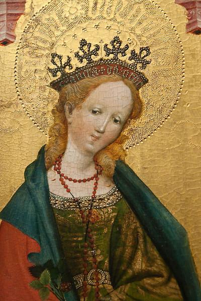 Münster, WLM, Conrad von Soest: hl. Dorothea (um 1460)