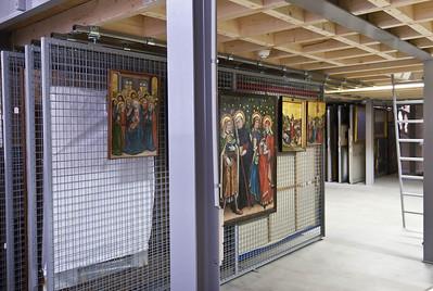 Münster, Westfälisches Landesmuseum, temporäres Depot während Umbau