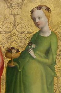 Christus am Kreuz und Heilige: Dorothea