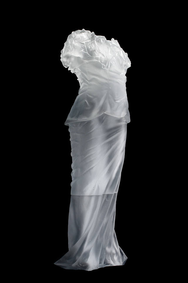 Dress Impression with Wrinkled Cowl