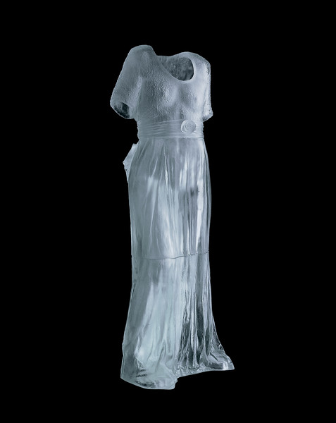 Rose Dress.  2002.  Cast glass.