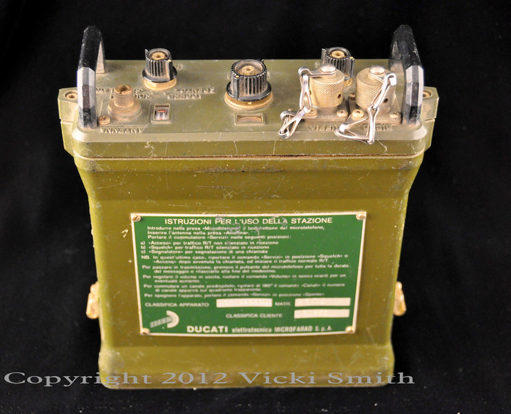 Ducati military radio, purchased in Bologna Italy