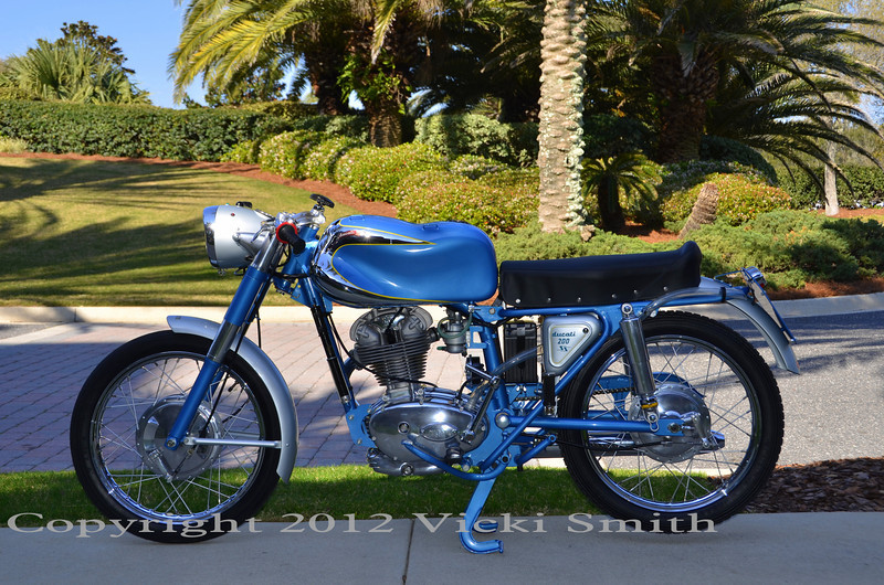 1958 200SS owned by Peter Calles, restored by the late Henry Hogben who was for as long as I can remember one of the all time experts on Ducati singles.  This restoration, one of his last, is a good example of his talent and expertise.