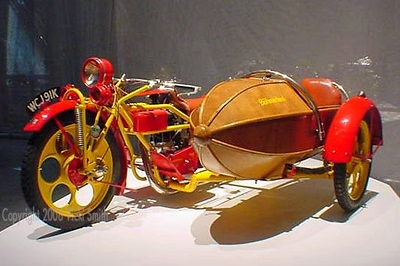 Many of the bikes shown )including this one)  were on loan from the Barber Motorsport Museum in Leeds AL.  If you like motorcycle and you haven't visited this museum you need to make sure it's on your bucket list