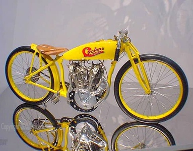 This 1914 Cyclone was among my favorites. I'm not the only one that covets it - it's one of the most valuable and desirable motorcyles that exists in the world today