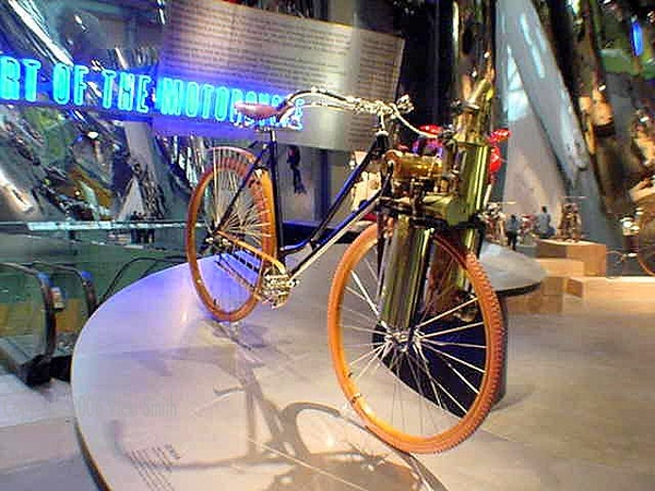 The exhibit was organized using a time line so this was among the first bikes you saw